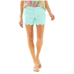 "Lilly Pulitzer 5"" Buttercup Scallop Hem Short"